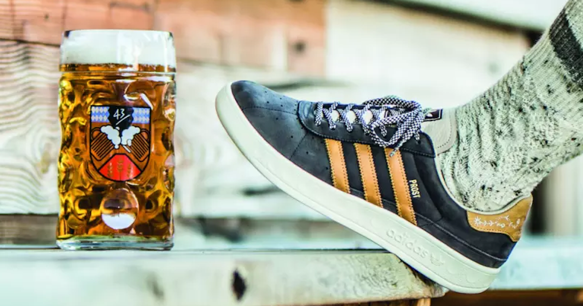 new concept ed535 29354 Adidas Release Beer And Vomit Proof Shoe For Oktoberfest   Ministry of Sound